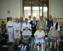Le tre centenarie particolarmente festeggiate insieme ai nostri volontari Paolo Tempo e Antonio Barbalinardo